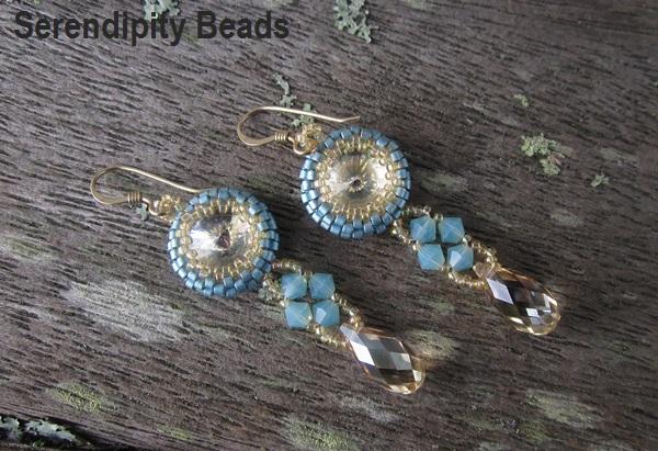Rivoli Earrings Turquoise Gold
