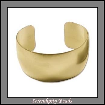 Brass Bracelet Cuff Blank 1 Inch Wide