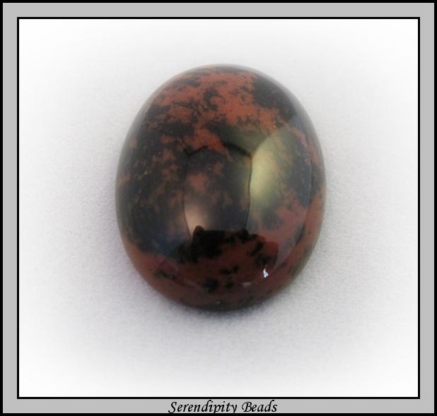 Mahogany Obsidian Oval
