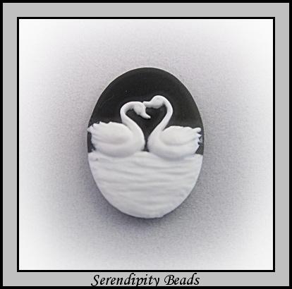 Cameo Acrylic Swans