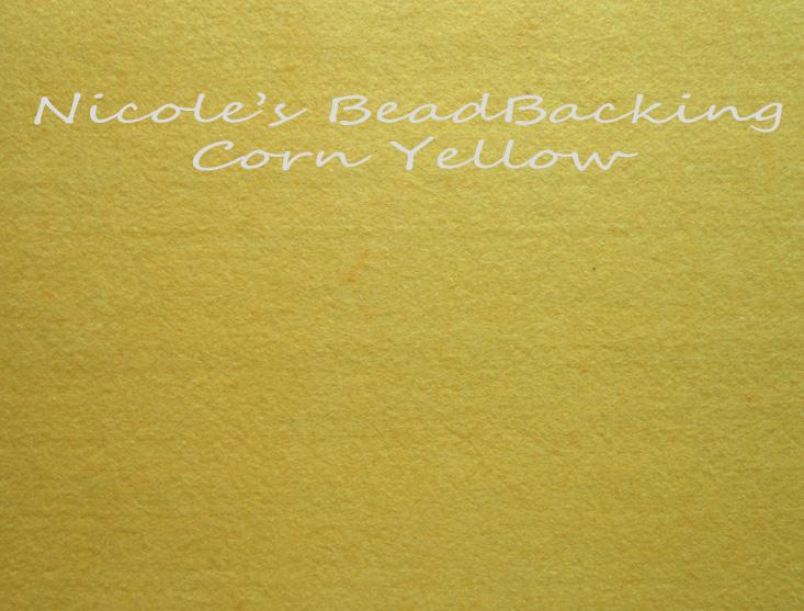 Nicoles Bead Backing - Corn Yellow