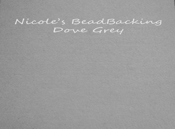 Nicoles Bead Backing - Dove Grey