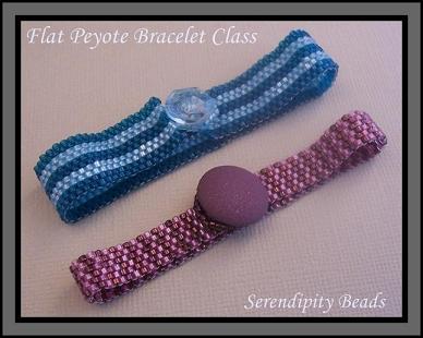 Flat Peyote Stitched Bracelet