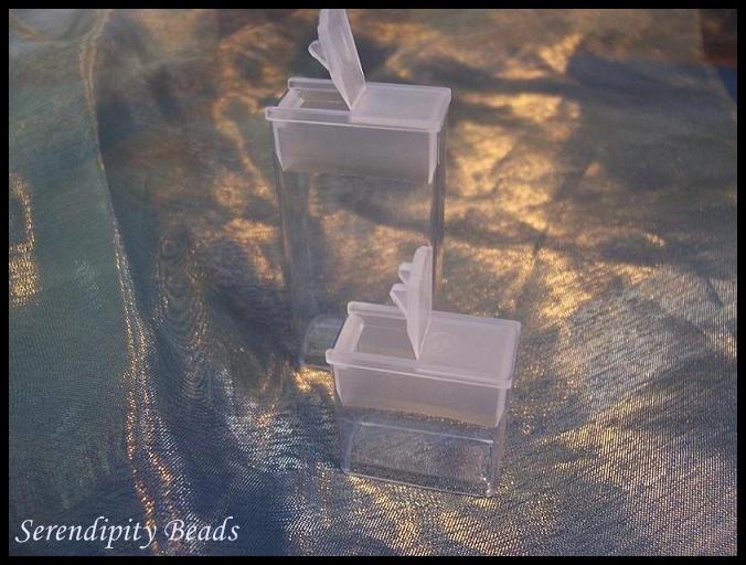 Flip Top Seed Bead Storage 1 inch