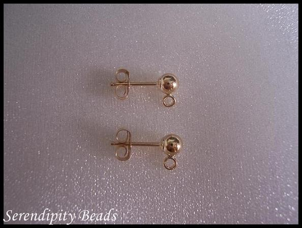 GF Earring Studd 4mm Ball