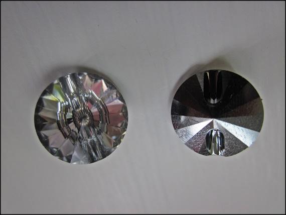 Button Swarovski Rivoli Crystal 12mm