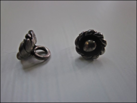 Button Hill Tribe Antiqued Silver Twisted Flower 7mm