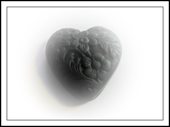 Heart Black Small -Stamped