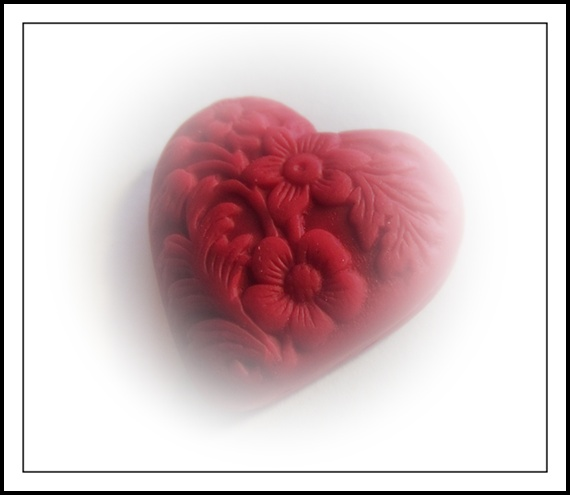 Heart Red Small - Stamped