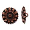 Button Flower 17mm - Antique Copper