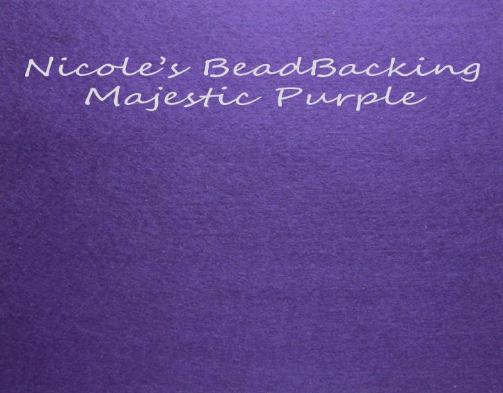 Nicole's Bead Backing - Majestic Purple