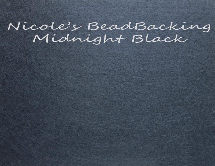 Nicole's Bead Backing - Midnight Black
