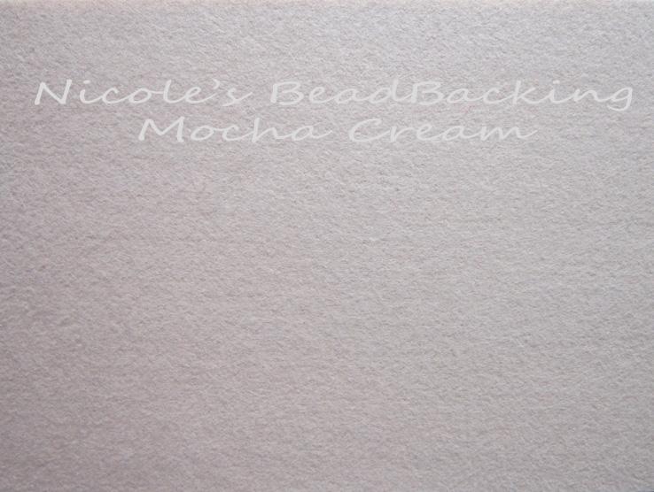 Nicoles Bead Backing - Mocha Cream