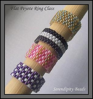 Flat Peyote Stitched Rings