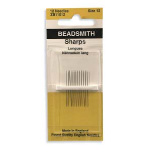 Needles Beading John James Sharps #12 12pk
