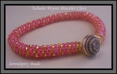Tubular Peyote Stitched Bracelet