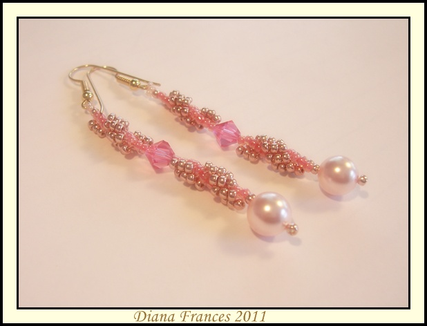 Victorian Pink Earrings